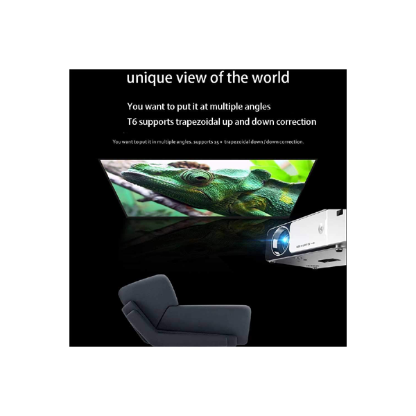 Projector Ovegna T6 Android controls smart portable office WiFi projector mini mobile phone projector Hover